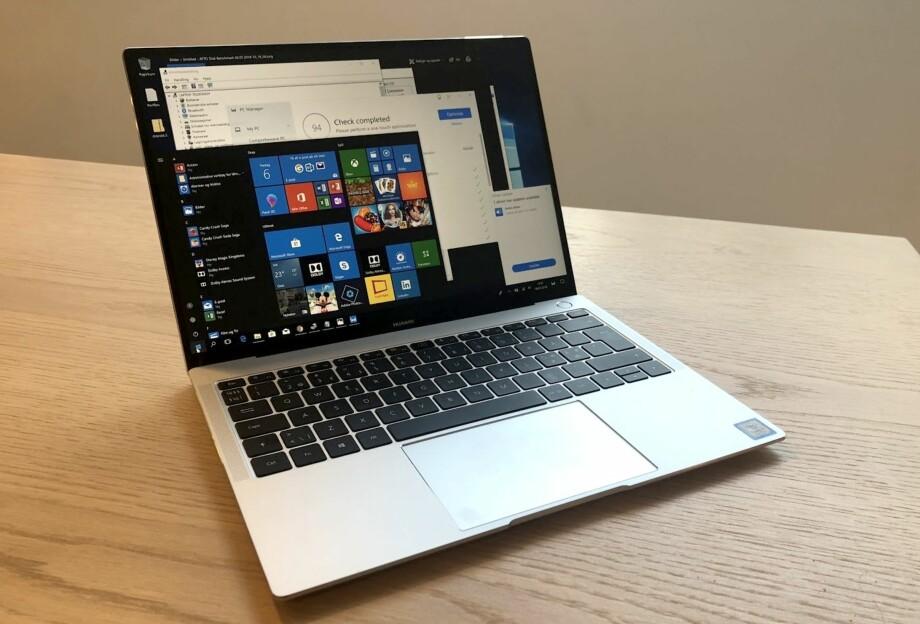 SÆRS GODT: Huawei mener alvor med PC-satsingen sin, og leverer nok en modell som står til en sekser på terningen. Foto: Bjørn Eirik Loftås