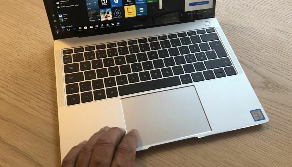 ROMSLIG: Tastatur og pekeplate er av det romslige slaget. Foto: Bjørn Eirik Loftås