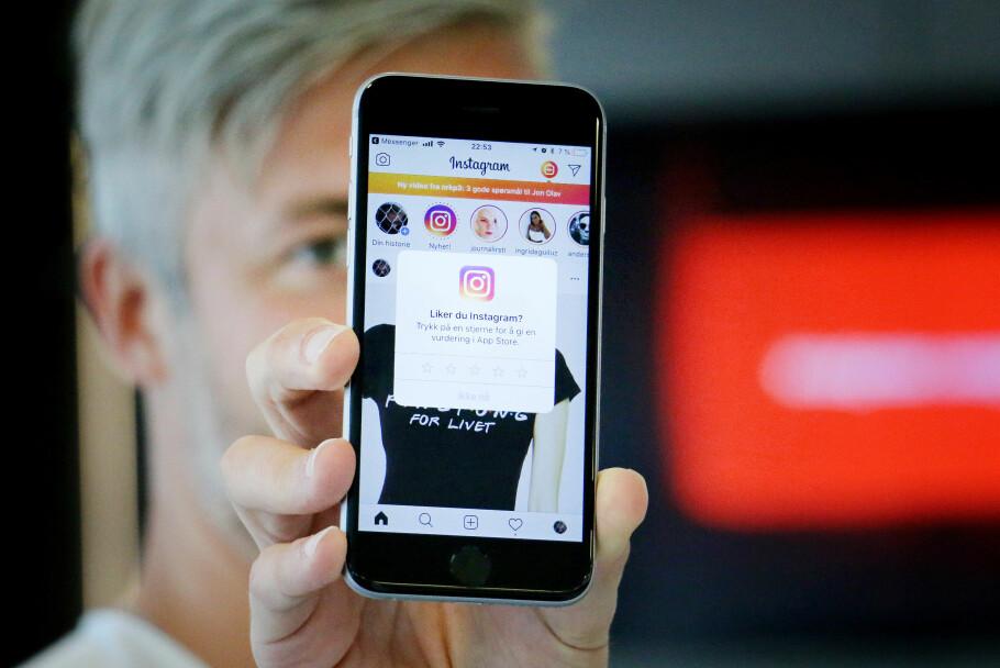 <strong>MAS:</strong> Mange iPhone-apper vil be deg om stjerner i App Store. Er du lei av dem, kan du skru dem av én gang for alle. Foto: Ole Petter Baugerød Stokke