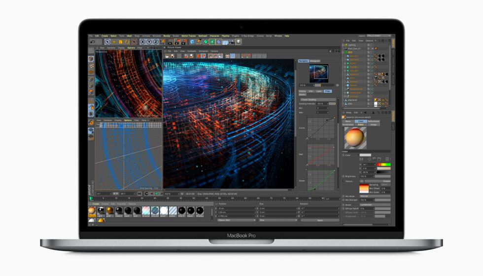 NY OG BEDRE SKJERM: Nye Macbook Pro har blitt inntil 70 prosent raskere enn forgjengeren, og har fått en ny og mer lyssterk skjerm. Foto: Apple
