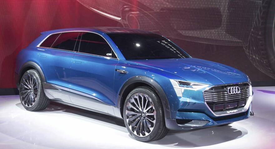 KONSEPT: Uten kamuflasje er Audi e-tron kun vist som konseptbil. Tyskerne serverer små drypp av oppdateringer nesten ukentlig. Foto: Jamieson Pothecary