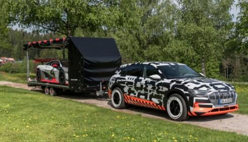 <strong>HENGERFESTE:</strong> Audi e-tron skal kunne trekke henger med høy vekt. Foto: Audi