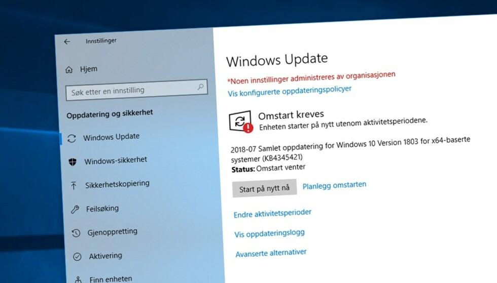 Ta kontroll over oppdateringene i Windows 10