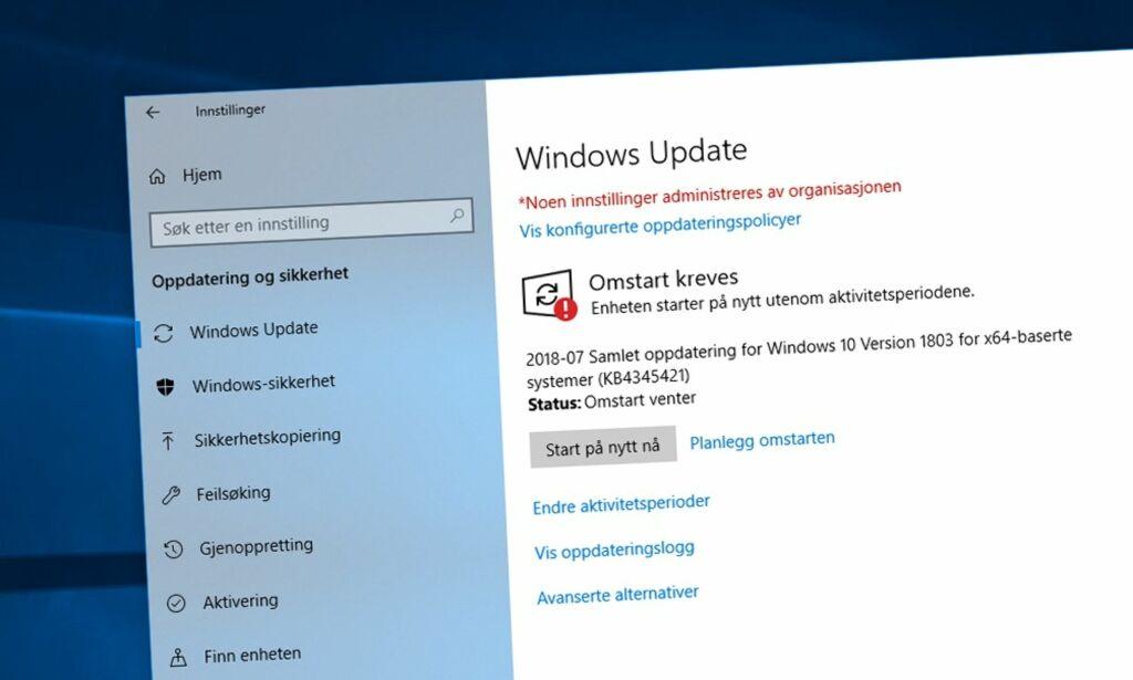 image: Er du lei av at PC-en restarter seg selv?Slik tar du kontroll