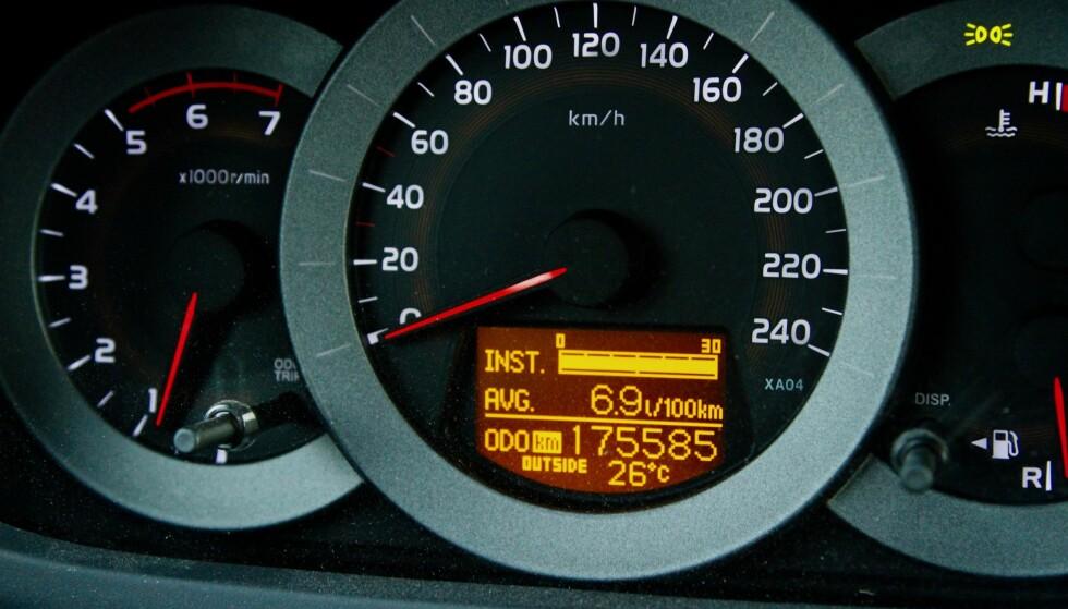 75.000 ELLER 175.000?: NAF har regnet ut at kilometersvindel koster norske bilkjøpere mellom 2 og 5,3 milliarder kroner i året. Foto: Rune Korsvoll
