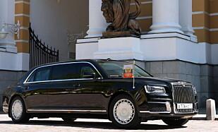 FØRST UTE: President Vladimir Putin vant kappløpet om først å ta i bruk sin nye bil. Foto: Autoreview