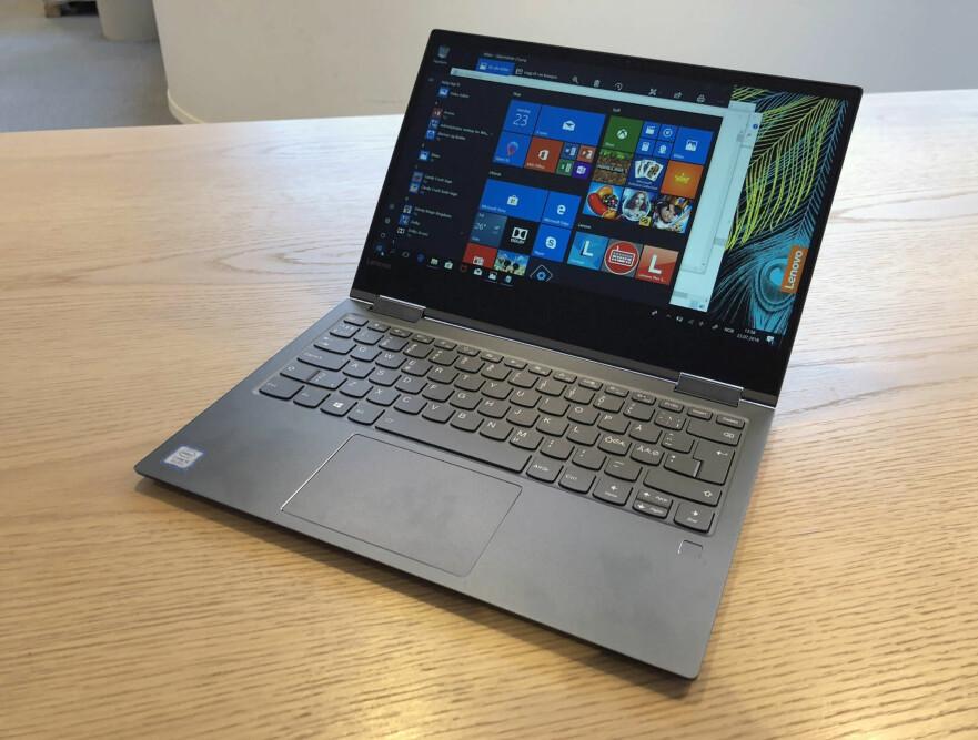 KOMPAKT OG FIN: Lenovo Yoga 730 byr på god byggekvalitet, utmerket tastatur og god ytelse. Foto: Bjørn Eirik Loftås