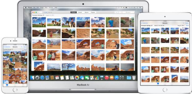 OVERALT: Bildene fra telefonen din dukker opp på alle Apple-enhetene dine. Dessverre er det enkelt å slette dem fra alle sammen også. Foto: Apple