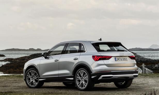 VOKSEN: Nye Q3 er nesten fire og en halv meter lang og skal dermed ha mye bedre innvendig plass. Foto: Audi