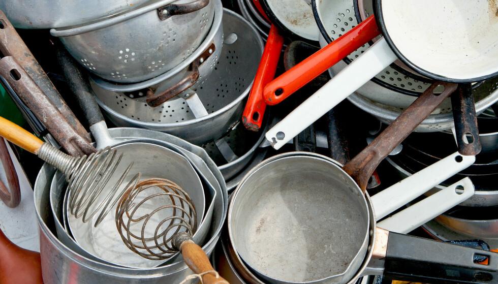 GAMLE KJELER: Hvilken kjele du lager mat i kan ha mye å si på hvor stor strømregningen blir, sier Enova. Foto: NTB Scanpix