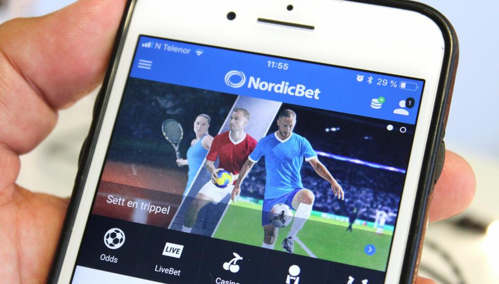 FJERNET: NordicBet er blant pengespill-appene som ikke lenger er tilgjengelig på norske App Store. Foto: Kirsti Østvang