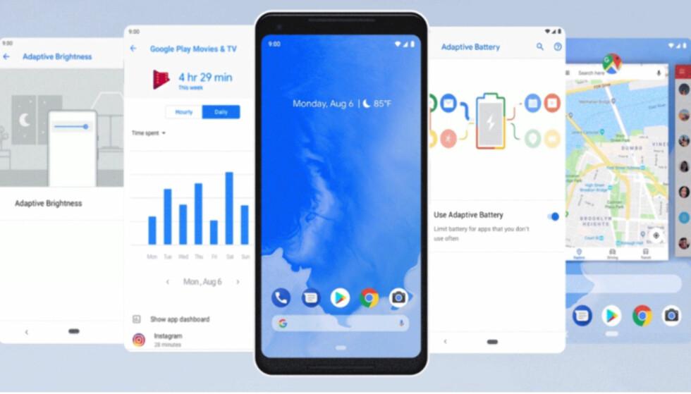 ANDROID 9 PIE: I dag blir den nye Android-oppdateringen fra Google gjort tilgjengelig - men kun for noen telefoner. Foto: Google