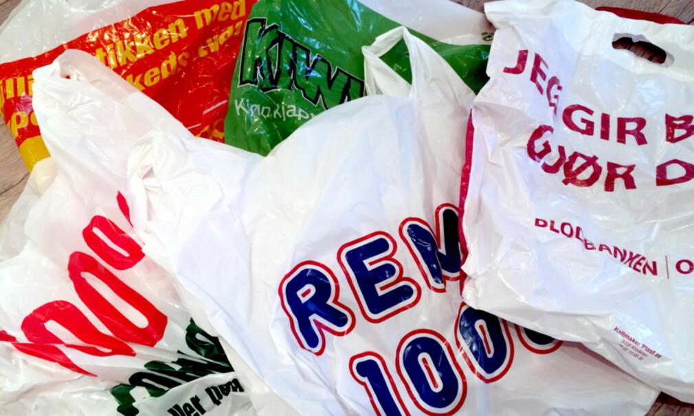 MILLIONER I PLASTPOSEAVGIFTER SKAL DELES UT: Du betaler 50 øre per plastpose i en «poseavgift» - som går til Handelens Miljøfond. Dette skal blant annet gå til tiltak for å redusere plastforsøpling. Nå er de første «vinnerne» av tilskudd fra posemillionene klare. Foto: Kristin Sørdal