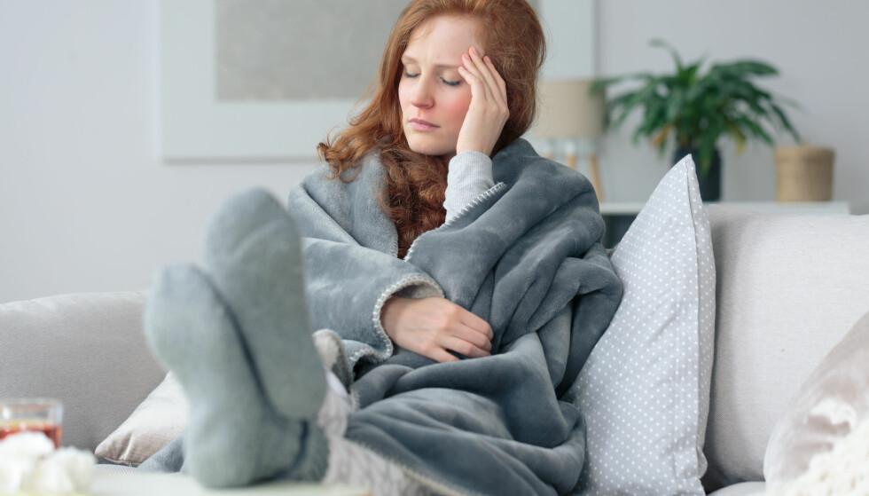 VERKENDE KROPP: Muskelsmerter og feber er vanlige symptomer på sesonginfluensaen. Foto: NTB scanpix.