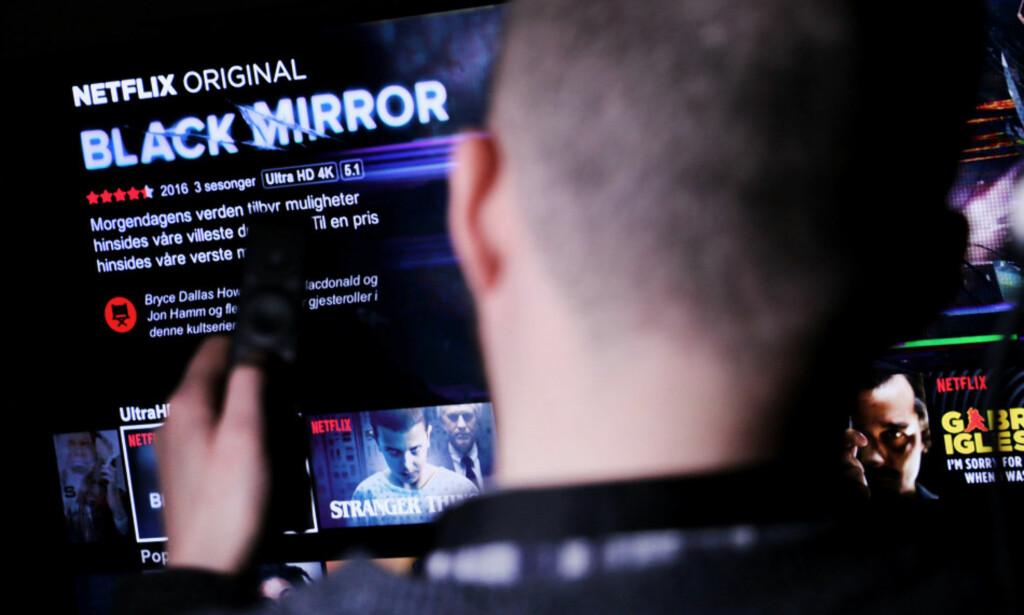 TESTER NY FUNKSJON: Netflix kan få en funksjon for å raskere se favorittscenen din om igjen. Foto: Ole Petter Baugerød Stokke