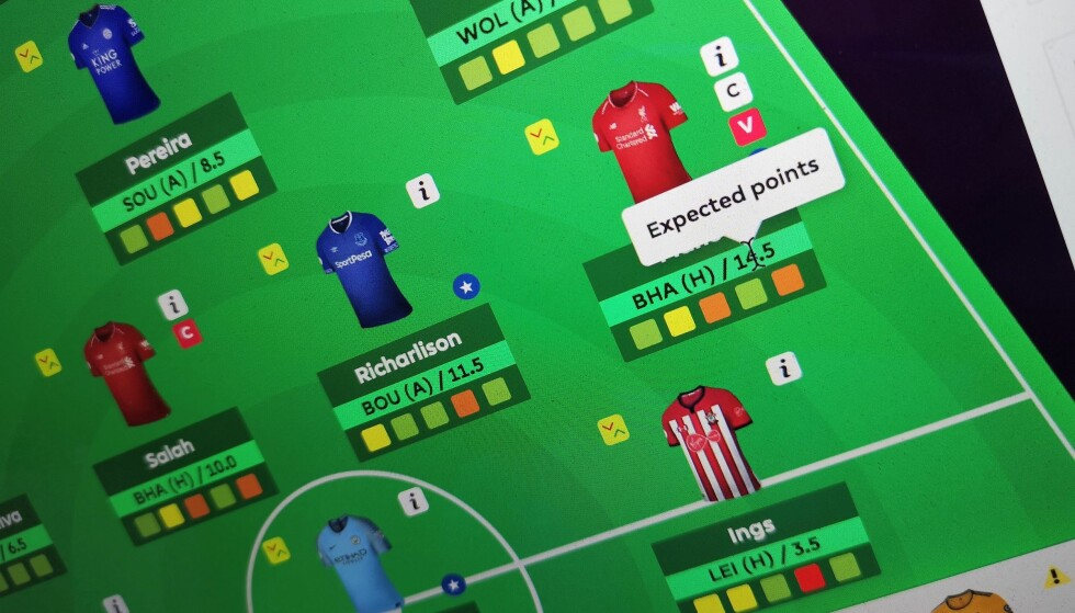 BLI BEDRE: Med nettleserutvidelsen Better FPL, får du mer informasjon på nettsidene til Fantasy Premier League. Foto: Pål Joakim Pollen