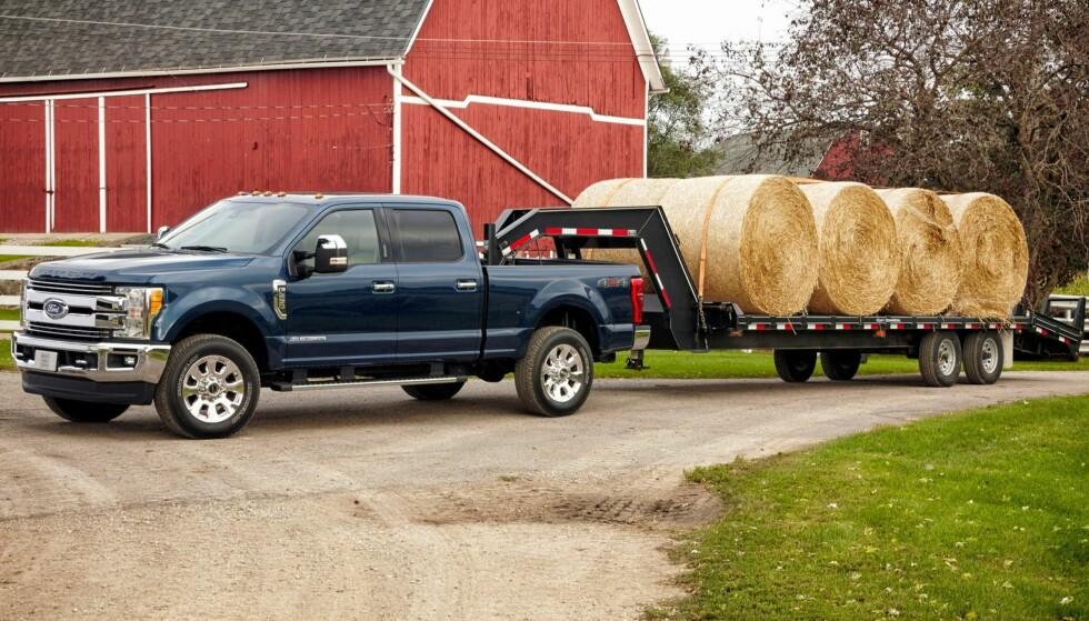 BESTSELGER: Ford F-serie selger som varmt hvetebrød i USA. Globalt var den verdens nest mest solgte bil i første halvår 2018. Foto: Ford