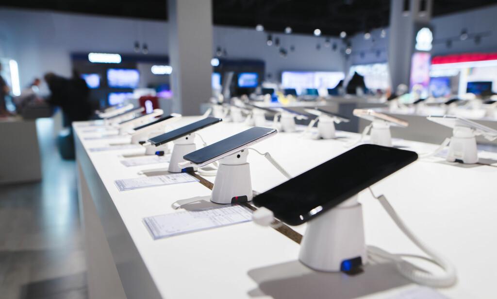 TOPPMODELLER: Vi bruker stadig mer penger på telefonene vi kjøper. Foto: NTB Scanpix