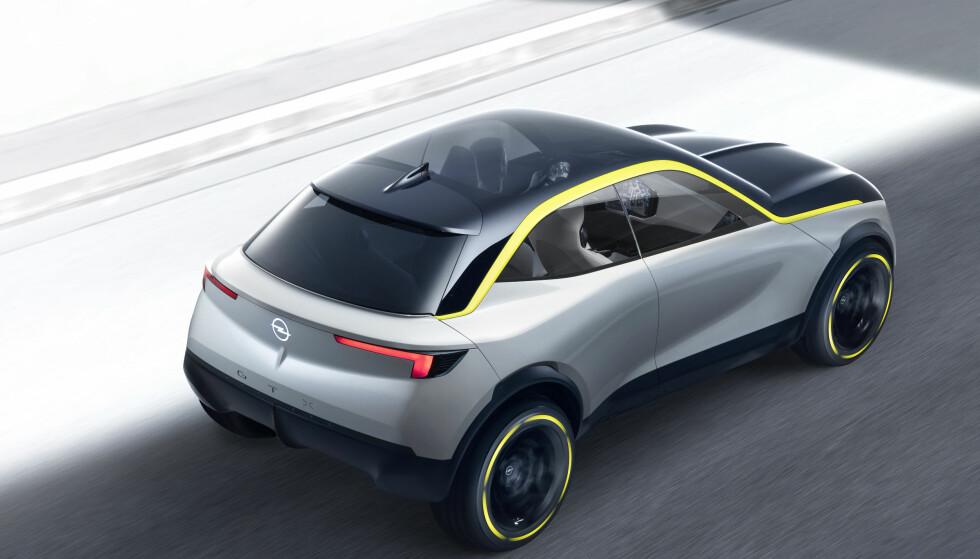 DEN NYE TID: Basert på DS 3 Crossback e-Tense, skal Opel realisere en produksjonsbil som plukker opp tråden fra konseptbilen GT X (bildet). Foto: Adam Opel AG