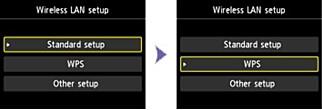 WPS: Skrivere har ofte WPS-mulighet – langt kjekkere enn å skrive inn WiFi-passordet på et bittelite tastatur på skjermen. Foto: Canon