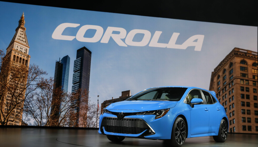 VIST I USA: Her vises den nye generasjon Corolla kombi i amerikansk utgave i mars i år. Foto: REUTERS/Shannon Stapleton