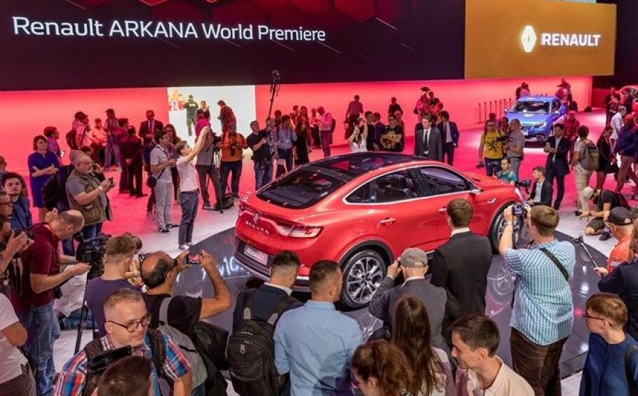 RENAULT ARKANA: Den nye franske SUV-en ble lansert under den internasjonale motormessa i Moskva onsdag. Foto: Olivier Martin-Gambier