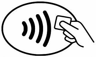 RIKTIG MERKE: Har betalingsterminalen dette merket, kan du betale med produkter som har kontaktløs betaling.