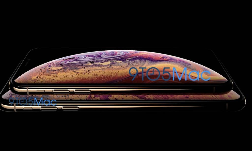 RAMME I RUSTFRITT STÅL: Nåværende iPhone X har en ramme i rustfritt stål, dog ikke i gull som avbildet i det angivelige lekkede produktbildet av de kommende iPhone XS-modellene. Foto: 9to5Mac