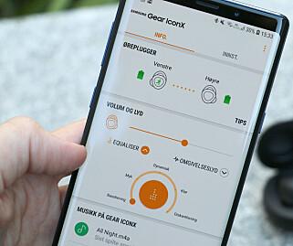 KUN TIL ANDROID: Appen til Gear IconX finnes kun til Android-telefoner. Foto: Kirsti Østvang