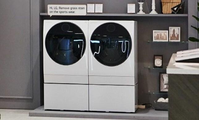 TENKER SELV: Denne maskinen fra LG tenker selv, og tilpasser tørkeprogram til vaskeprogram. Foto: LG