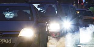 CO2: Med den nye WLTP-metoden vil biler få høyere utslippstall – noe som koster mer i avgift. Foto: Erik Johansen / NTB Scanpix