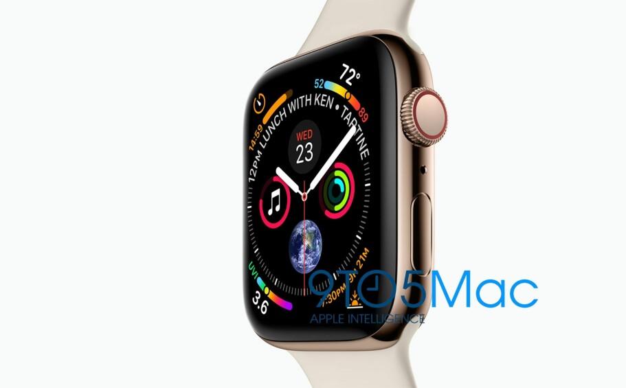 SERIES 4: Rett før lanseringen av Apples nyeste smartklokke er det klart at klokkene fra produsenten er verdens mest solgte. Foto: 9to5mac.com