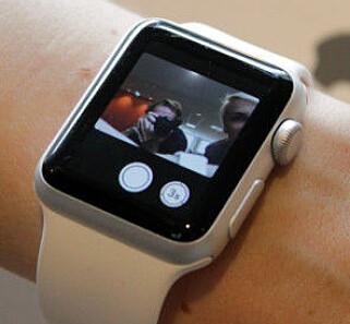 RAMMEFRI: Den nye versjonen av Apple Watch skal komme uten den svarte rammen rundt skjermen. Foto: Ole Petter Baugerød Stokke