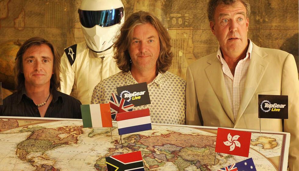BLIR NORSK: Det britiske bilshowet var i sin tid en stor suksess med Richard Hammond (fra venstre), James May og Jeremy Clarkson. Fra og med 2020 skal TV-programmet fornorskes med norske programledere. Foto: BBC