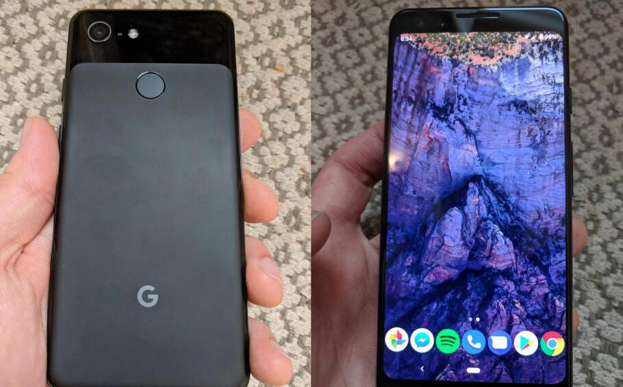 KOMMER SNART: Dette skal være Googles kommende Pixel 3-mobil. Foto: Reddit
