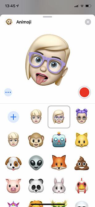 <strong>EMOJI AV DEG SELV:</strong> Tro det eller ei, men en av de store nyhetene i iOS 12 er at du kan lage en animert emoji av deg selv. Emojier er nemlig mer populært enn mange kanskje aner. Skjermbilde: Kirsti Østvang