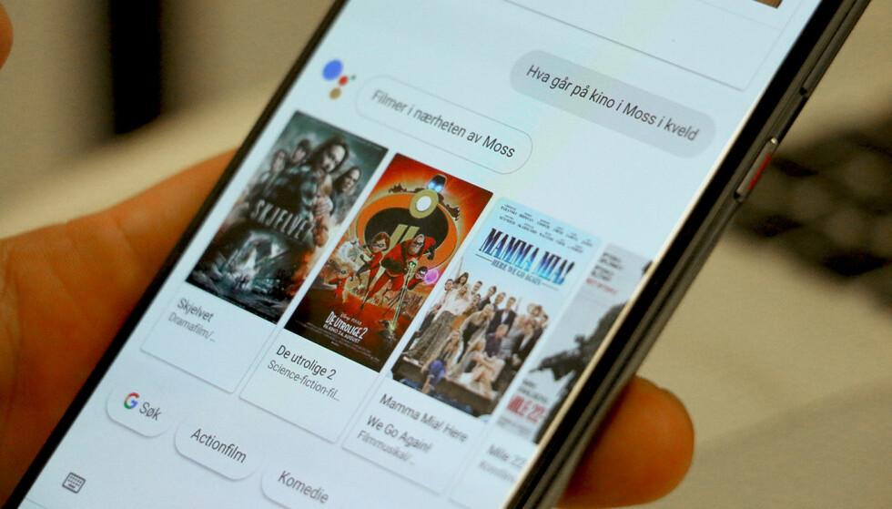 PÅ NORSK: I dag går startskuddet for den norske utgaven av Google Assistent. I løpet av dagen skal alle norske iOS- og Androidbrukere få tilgang. Foto: Kirsti Østvang