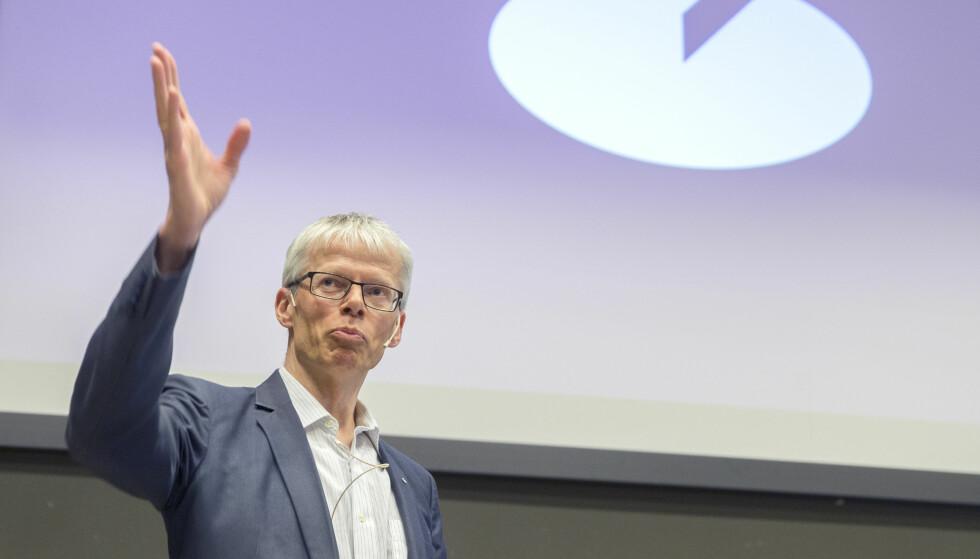 FRYKTER SKATTEUNDRAGELSE: Skattedirektør Hans Christian Holte mener det er flere nordmenn enn de som rapporterer som har kryptovaluta, altså at skatteunndragelsene er store. Foto: Terje Pedersen/NTB scanpix.