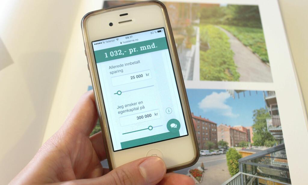SPARING: Med denne nye BSU-kalkulatoren kan du finne ut hvor mye du må spare i måneden for å nå målet ditt om ønsket egenkapital. Foto: Eilin Lindvoll.