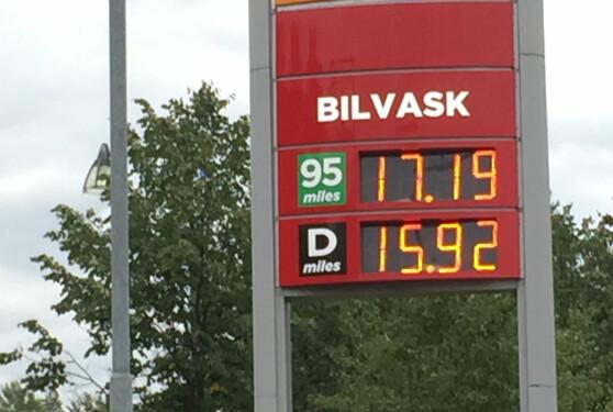 Bensinprisen stiger kraftig - kan passere 18 kroner