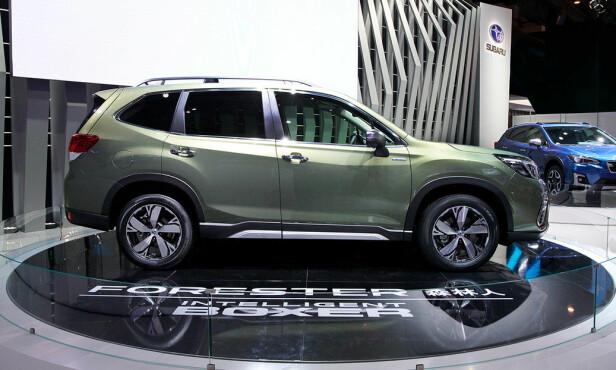 <strong>TØFFING:</strong> Forester er en rendyrket SUV og bakkeklaringen på 22 centimeter sammen med permanent, symmetrisk firehjulsdrift, borger for god fremkommelighet også under vanskelige føreforhold. Foto: Subaru