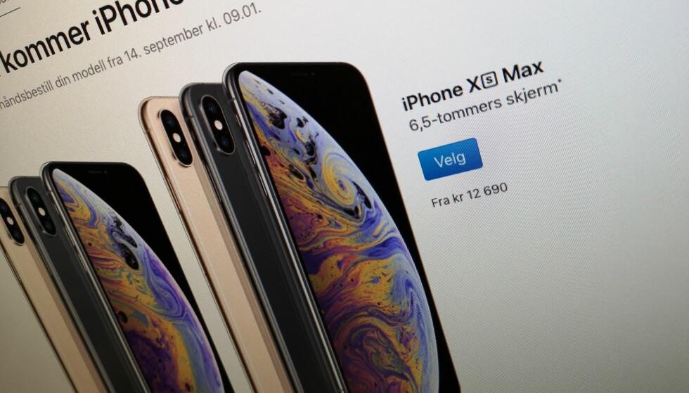 DYR AFFÆRE: Apples nye toppmodell, Xs Max, starter på 12.690 kroner. For dyrt? Tja. Foto: Pål Joakim Pollen