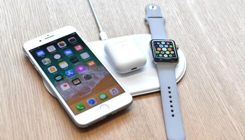 FORSVINNINGSNUMMER: Apples trådløse lader AirPower har fortsatt ikke sett dagens lys. Foto: Josh Edelson/AFP Photo/NTB Scanpix