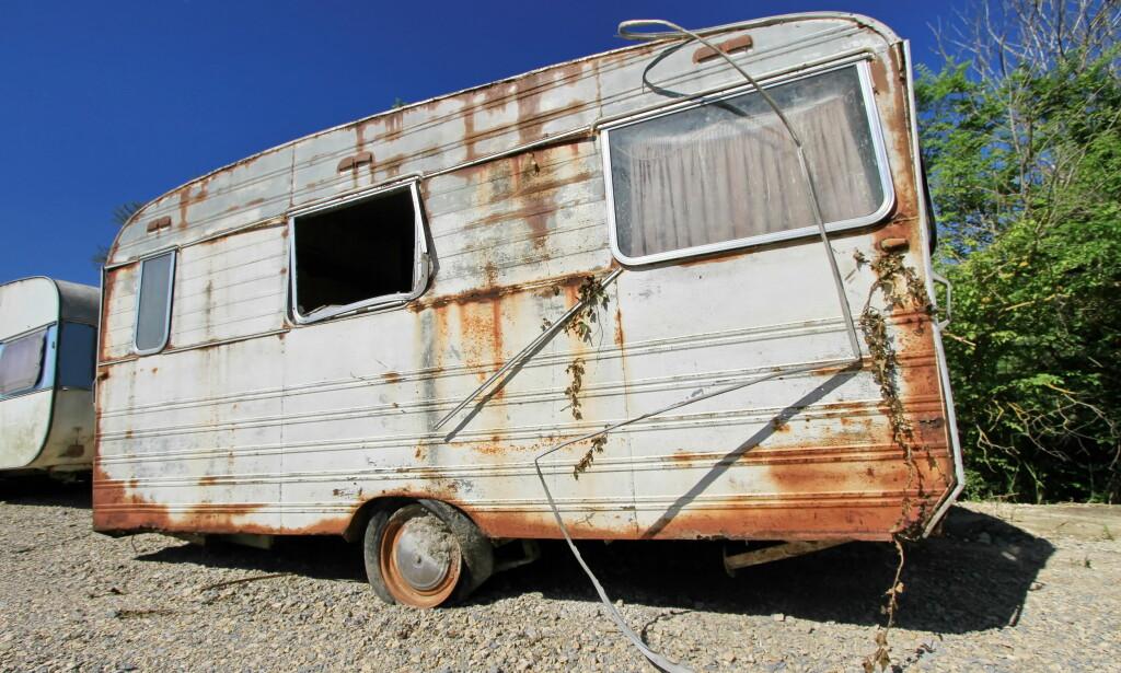 VRAKPANT FUNGERER: Flere har pantet den gamle campingvogna etter at vrakpanten ble endret. Foto: NTB Scanpix