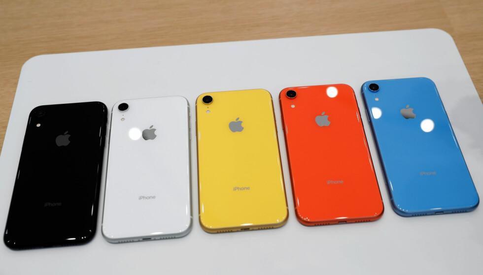 FLERE FARGER: Nye iPhone Xr kommer i flere farger enn det iPhone Xs og Xs Max gjør. Foto: Stephen Lam/Reuters/NTB Scanpix