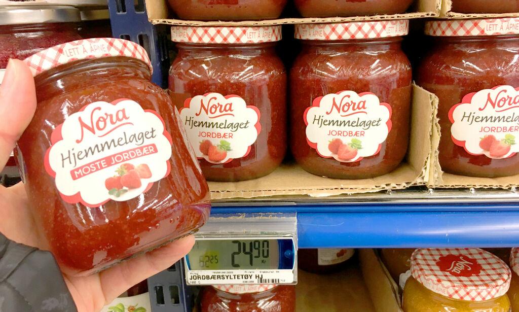 image: Merkelig prisforskjell på jordbærsyltetøy - fra samme produsent!