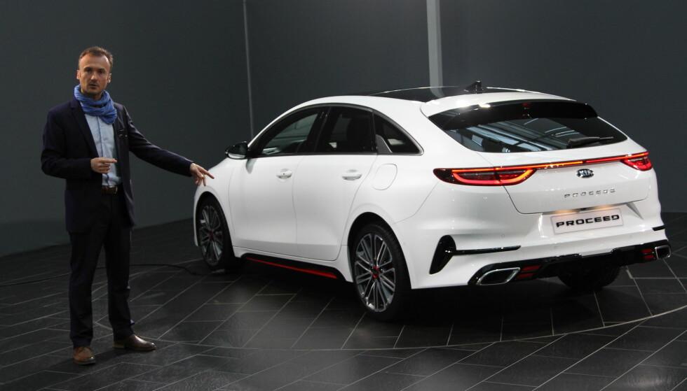 VIST FRAM: Dinside var først til å prøvekjøre Kia Prooceed, da vi testet den i forbindelse med Årets Bil i Europa-lanseringen. Nå er også bildene av en umaskert bil sluppet. Foto: Kia