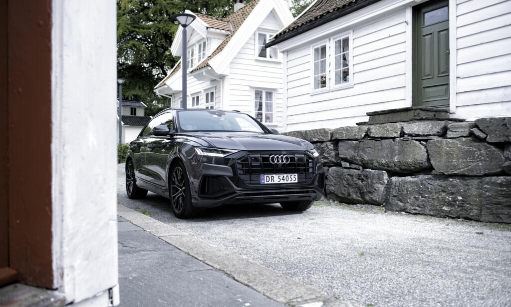 AUDI Q8: Mange har ventet lenge på Audis nyeste SUV. Foto: Kaj Alver