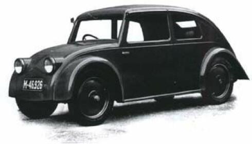 INSPIRERTE: Dette er en Tatra fra 1933, som visstnok skal ha inspirert utviklerne av Bobla vel i overkant - det ble rettssaker ut av det. Foto: Wikimedia Commons