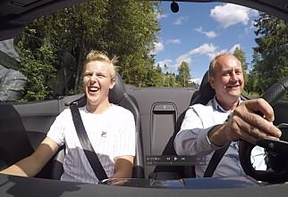 Carl-Fredrik (15) fikk bli med Dinside i heftige Audi R8